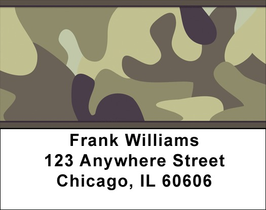 Camouflage Browns and Golds Address Labels - 3