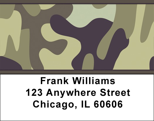 Camouflage Browns and Golds Address Labels - 4