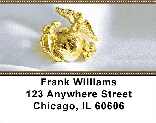 Marine Corp Emblem Address Labels