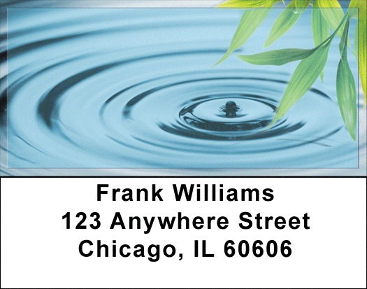 Bamboo & Water Droplet Address Labels
