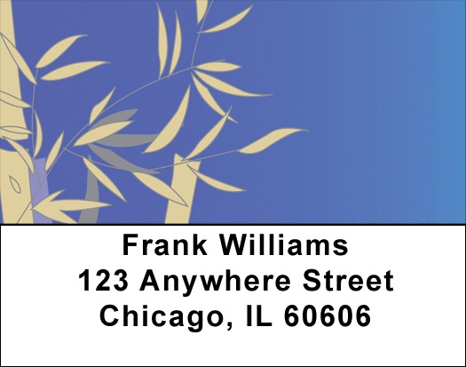 Bamboo Blues Address Labels
