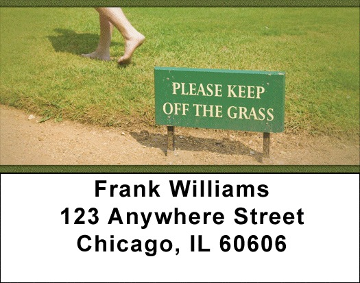 Legalize Marijuana -Please Keep Off The Grass Address Labels