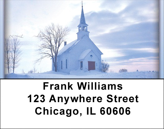 Church And Steeples Address Labels
