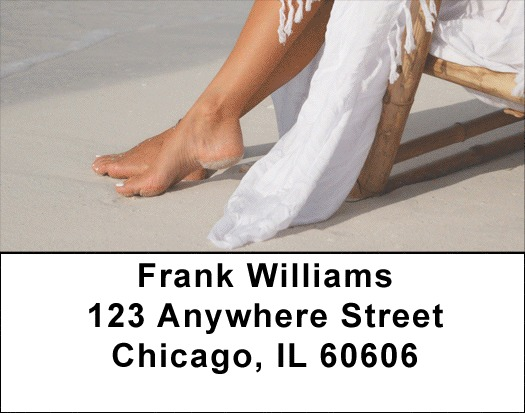 Beach Scenery Address Labels