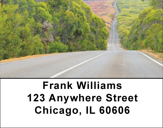 Taking The Long Road Address Labels - 2