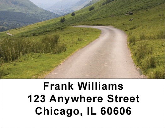 Taking The Long Road Address Labels - 3