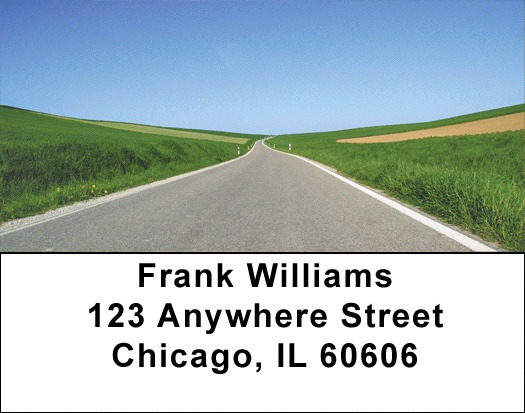 Taking The Long Road Address Labels - 4
