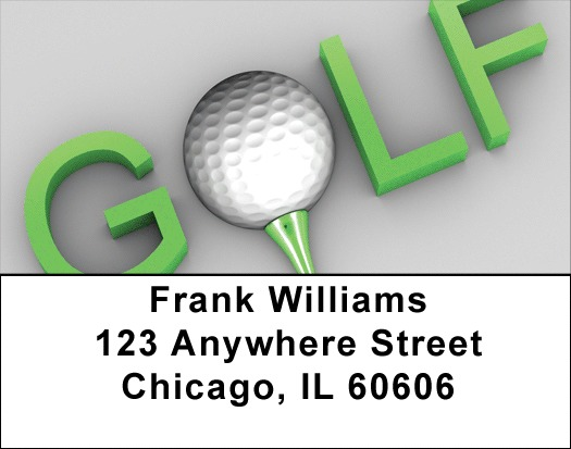G-O-L-F Address Labels