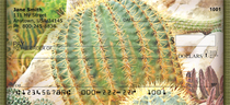 Cactus Flowers Personal Checks