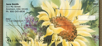 Watercolor Sunflowers Personal Checks