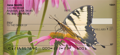 Brown Eyed Susans With Butterfly Personal Checks - 1