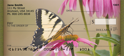 Brown Eyed Susans With Butterfly Personal Checks - 3