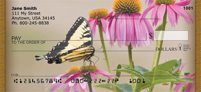 Brown Eyed Susans With Butterfly Personal Checks - 4
