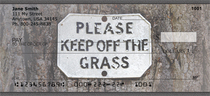 Legalize Marijuana -Please Keep Off The Grass Personal Checks