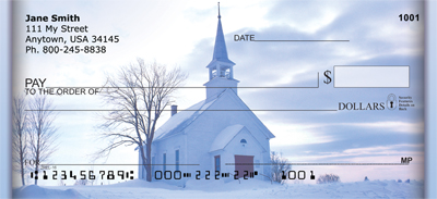Church And Steeples Personal Checks - 1