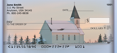 Church And Steeples Personal Checks - 3
