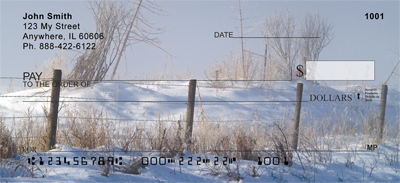 Barbed Wire Fence Posts Personal Checks - 1