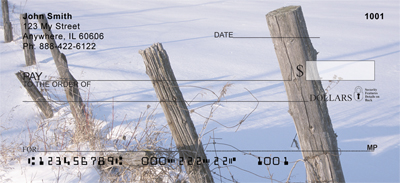 Barbed Wire Fence Posts Personal Checks - 3