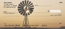 Windmills On Western Plains Personal Checks