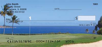 Golf Courses on The Ocean Personal Checks - 1