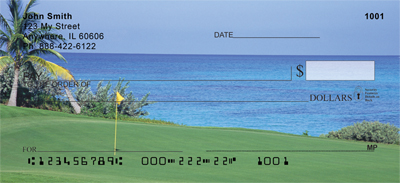 Golf Courses on The Ocean Personal Checks - 4