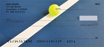 Abstract Tennis Court Personal Checks