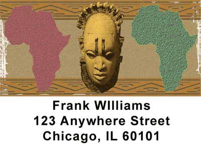 African Pride Checks Address Labels - 1