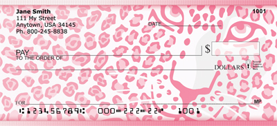 Pink Animal Prints Personal Checks