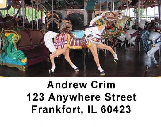 Carousel Series One Address Labels - 4
