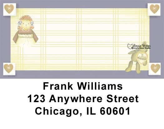 Raggedy Friends Address Labels - 2