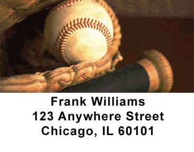Baseball Address Labels - 1