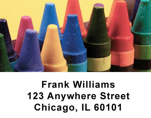 Crayons Checks Address Labels - 1