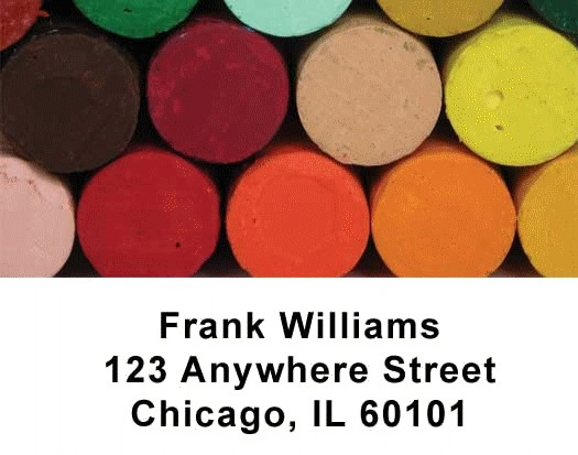 Crayons Checks Address Labels - 2