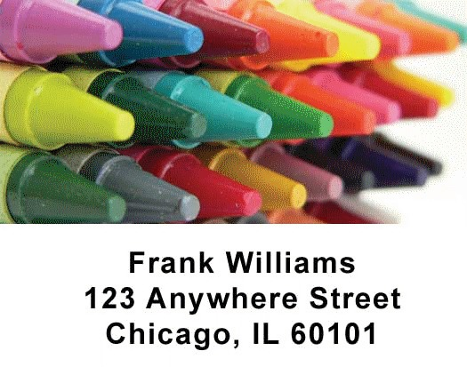 Crayons Checks Address Labels - 3