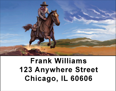 The Wild West Cowboy Labels - 1