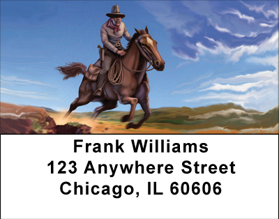 The Wild West Cowboy Labels - 3