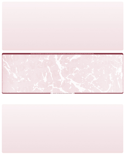 Burgundy Marble Blank Middle Laser Checks - 1
