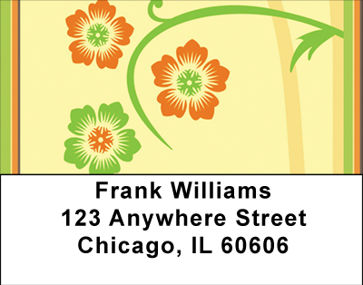 Warm Spring Florals Labels - 1