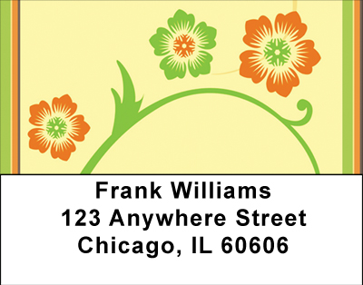 Warm Spring Florals Labels - 3