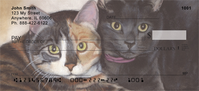 Affectionate Cats Personal Checks - 1