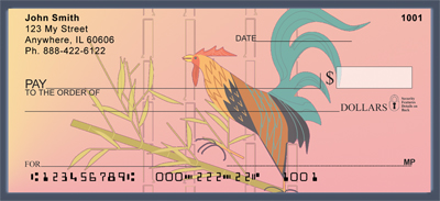 Asian Horse  & Rooster Personal Checks - 2