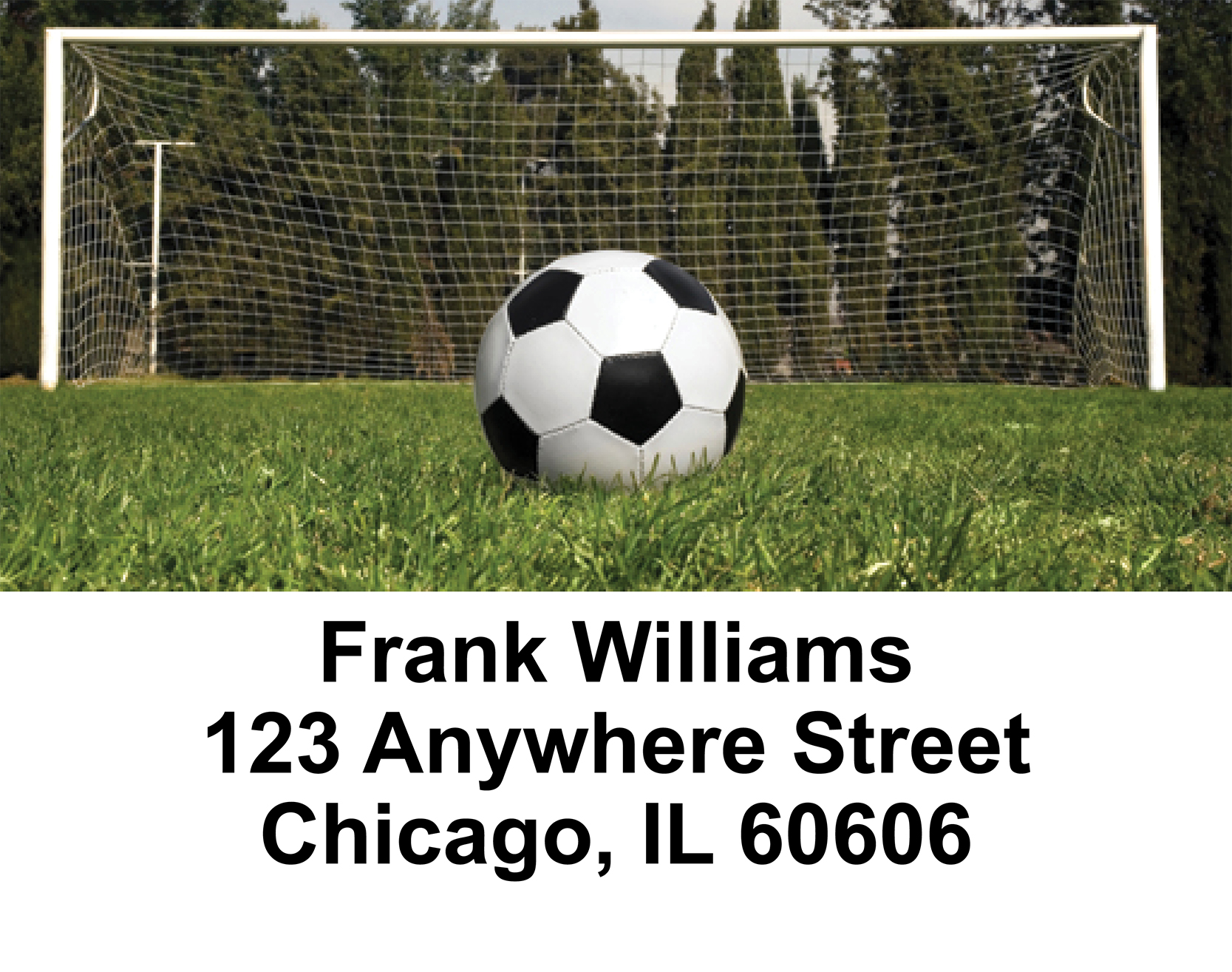 Soccer  Address Labels - 1