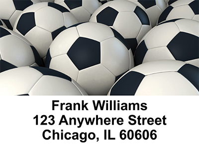 Soccer  Address Labels - 3