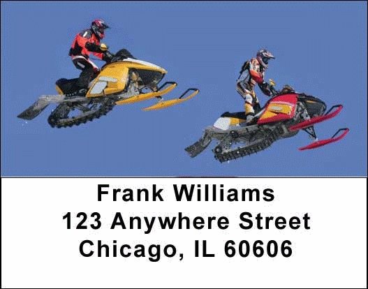 Snowmobiles  Address Labels - 1