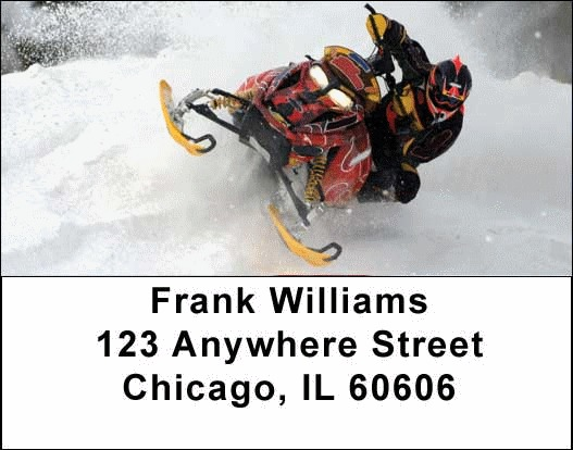 Snowmobiles  Address Labels - 2