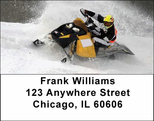 Snowmobiles  Address Labels - 3