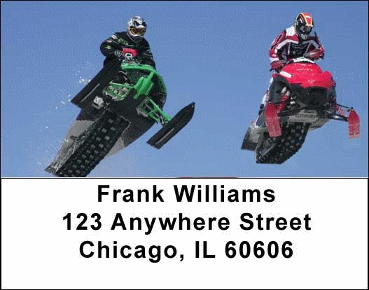 Snowmobiles  Address Labels - 4