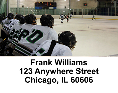 Ice Hockey   Address Labels - 1