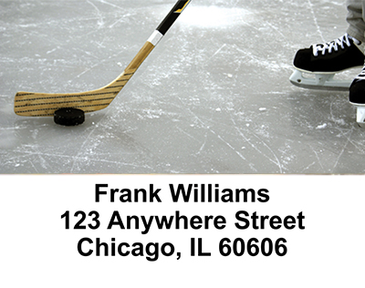 Ice Hockey   Address Labels - 2