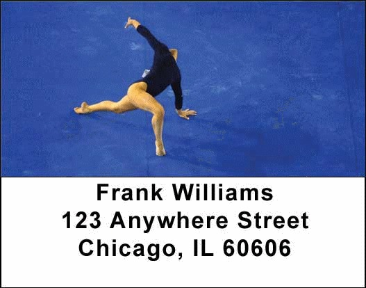 Gymnastic Checks Address Labels - 2